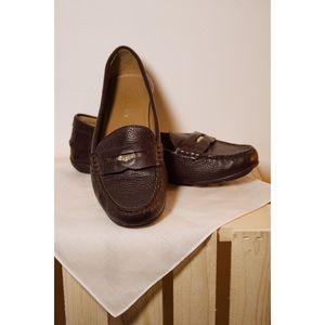 Coach Oxblood Penny Loafers